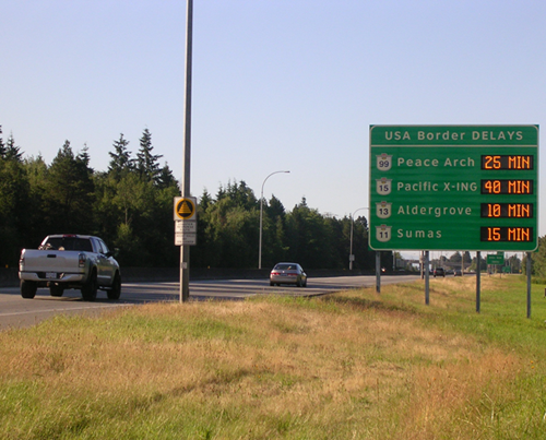 new signs communicate border waits  tranbc