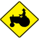 Be Aware of Farm Vehicles in this Area