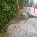 Heavy rains damage roadway