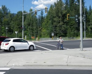 crossing at the Trans-Canada Highway and Victoria St. upgraded