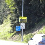 electronic signs using radar to detect the speed of motorists