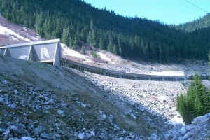 Coquihalla Highway 5 second longest snow shed