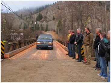 Louisa Street log bridge  project completed