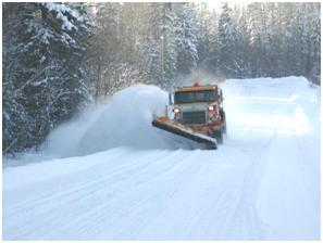 Snow Plowing Shift into winter Road Maintenance