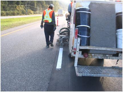 Fraser Valley Enhanced Delineation Highway 7 - Hope Mission Langley