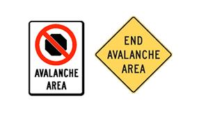 Avalanche Area End of Avalanche area