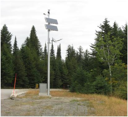 BC Highway cams webcams solar powered
