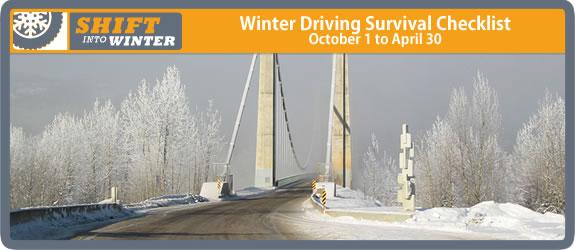 Winter Driving Survival Checklist