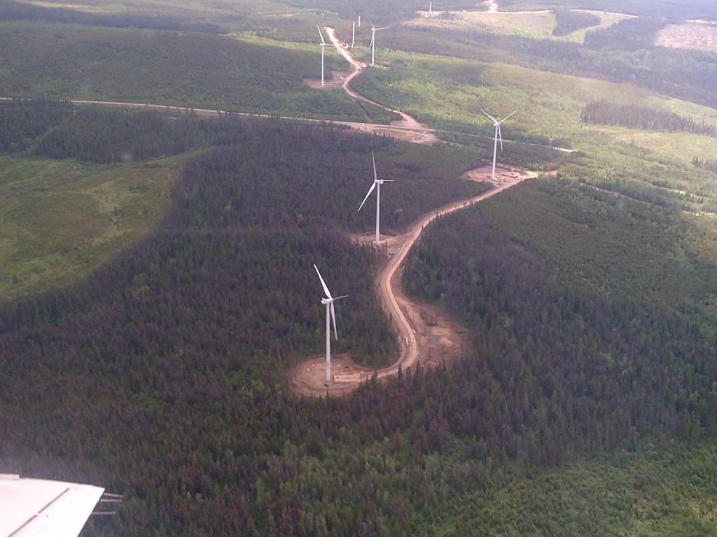 Wind Farm Crane BC