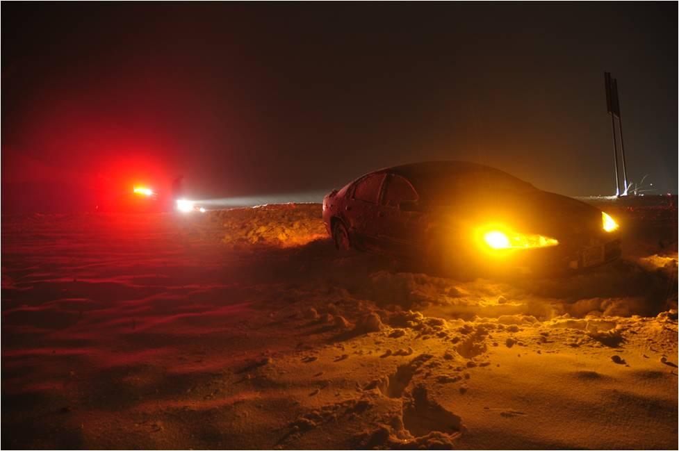 car off the road