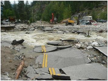 Spring Flood Freshet Southern Interior BC Highway97A BCHwy97A