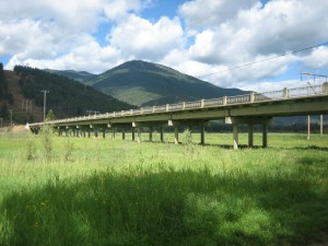 The Old Kootenay River Channel Bridge