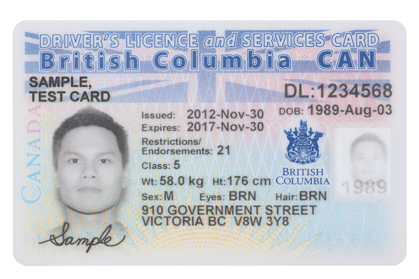 new Care Card and BC Driver's License