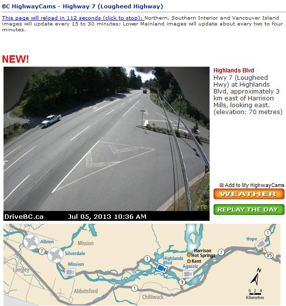 BC highway webcam