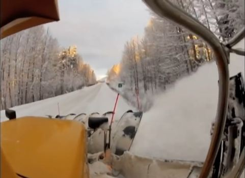 winter maintenance snow plow