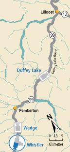 whistler Highway webcam map