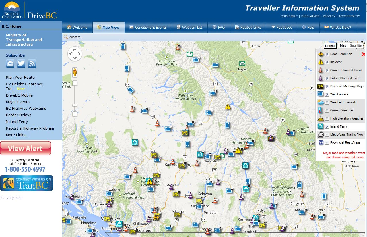 Drive Bc Map 3 Things You Need To Know About How We Update Information on  Drive Bc Map