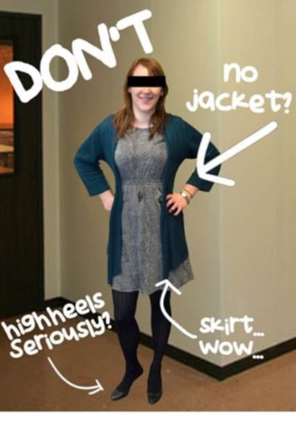 What not to wear in winter