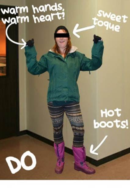 How to dress in the winter