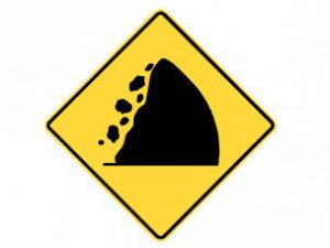 Rock slide hazard