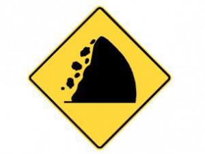 Rock slide hazard