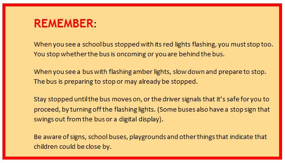 school bus drivers rules and regulations