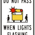 Do not pass when lights flashing