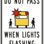 Do not pass when lights flashing