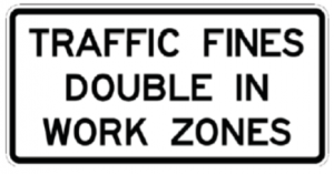 Old work zone sign