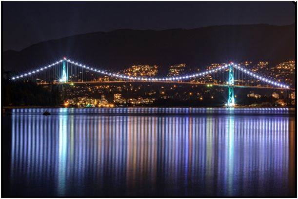 Lions Gate at night