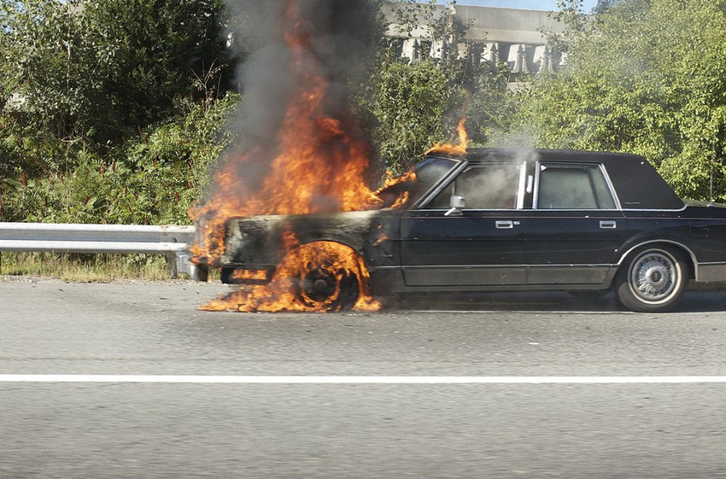 A car on fire and how to prevent this