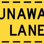 Runaway lane sign
