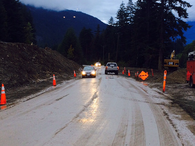 road open after mudslide