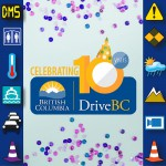 Celebrating DriveBC 10 Year Anniversary Canva