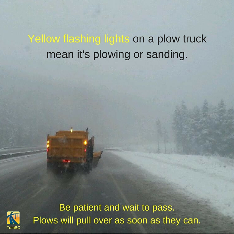 YELLOW FLASHING LIGHTS on a plow truck means it's plowing or sanding-3
