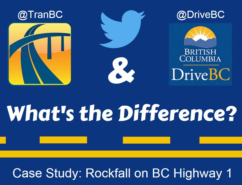 What's the difference betwen TranBC and DriveBC on Twitter