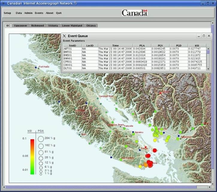 earthquake Dot Map