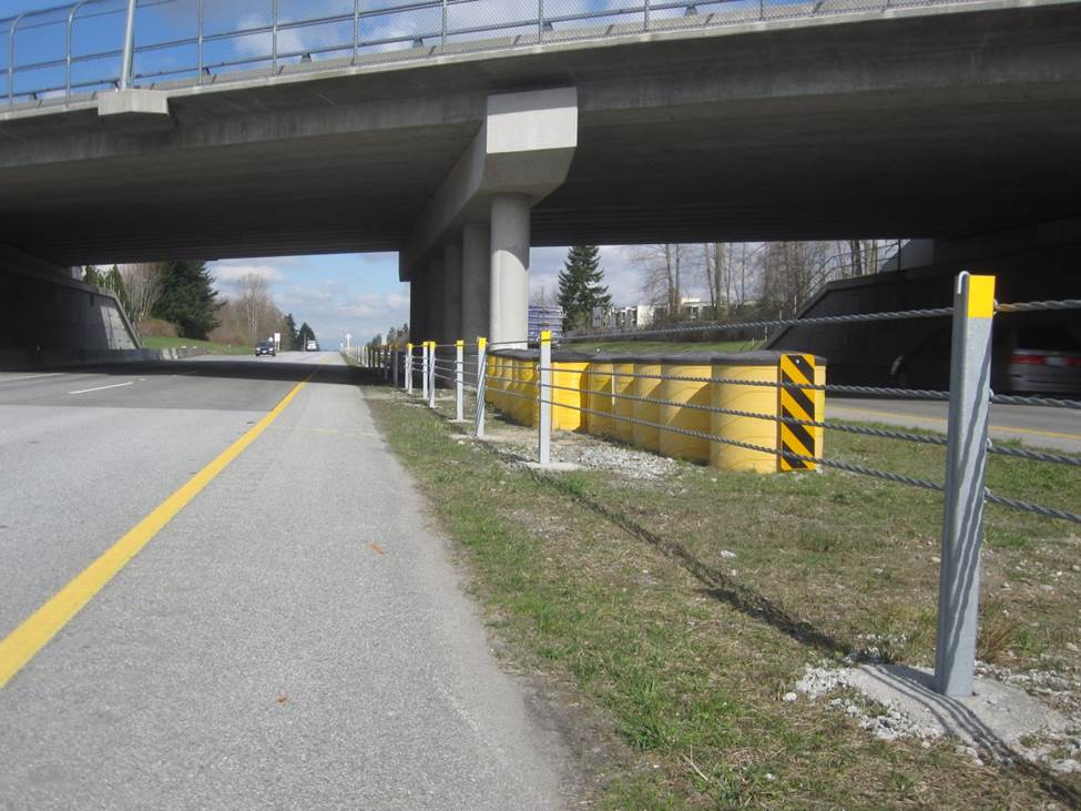 Types of barriers you will find on bc highways tranbc
