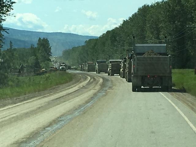 Dump Truck Convoy