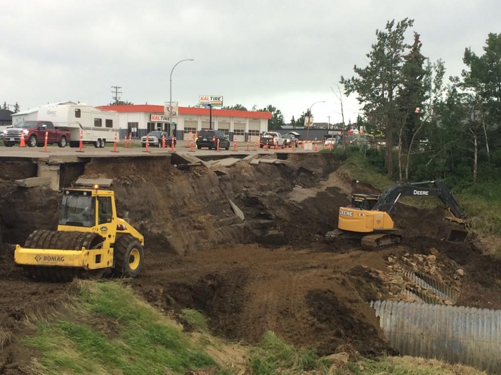 Dawson Creek Hwy 2 Repairs