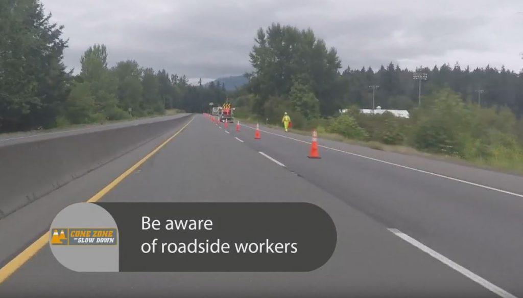 Watch for roadside workers