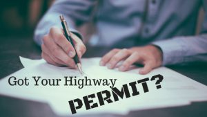 filling out a highway permit