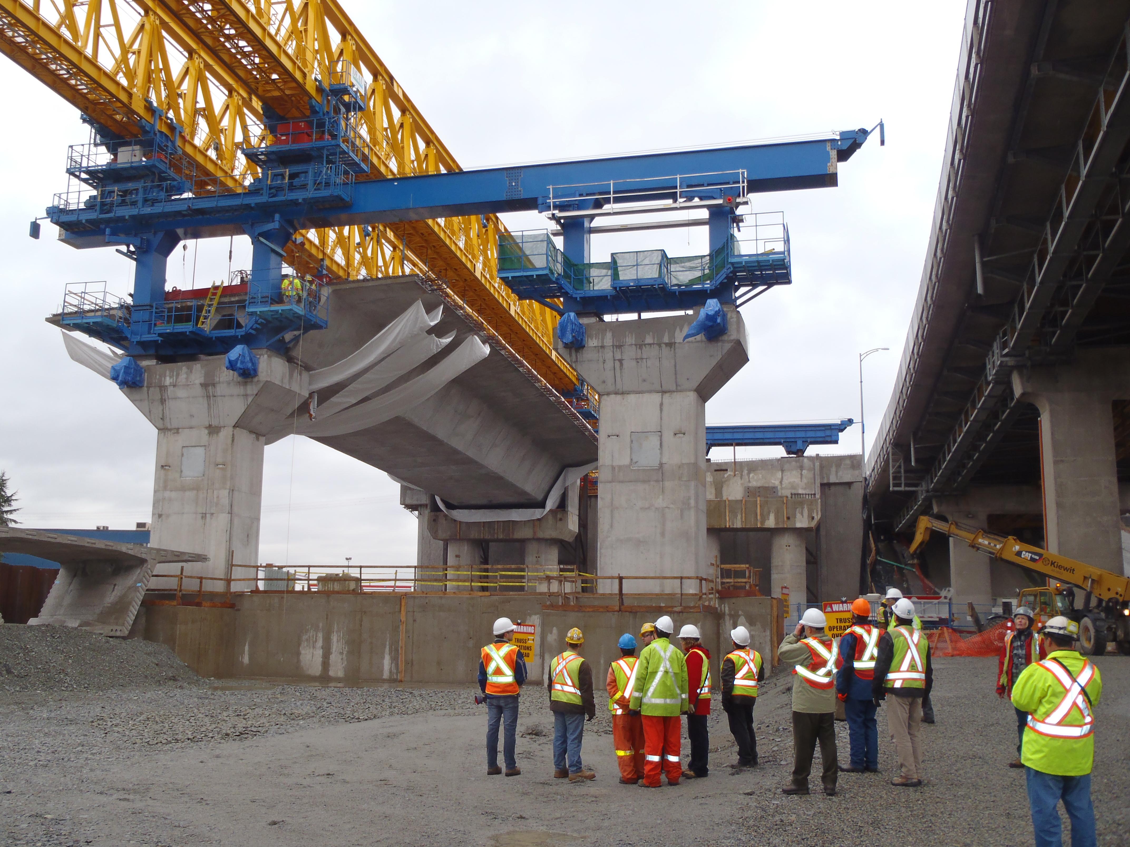 Port Mann Bridge construction