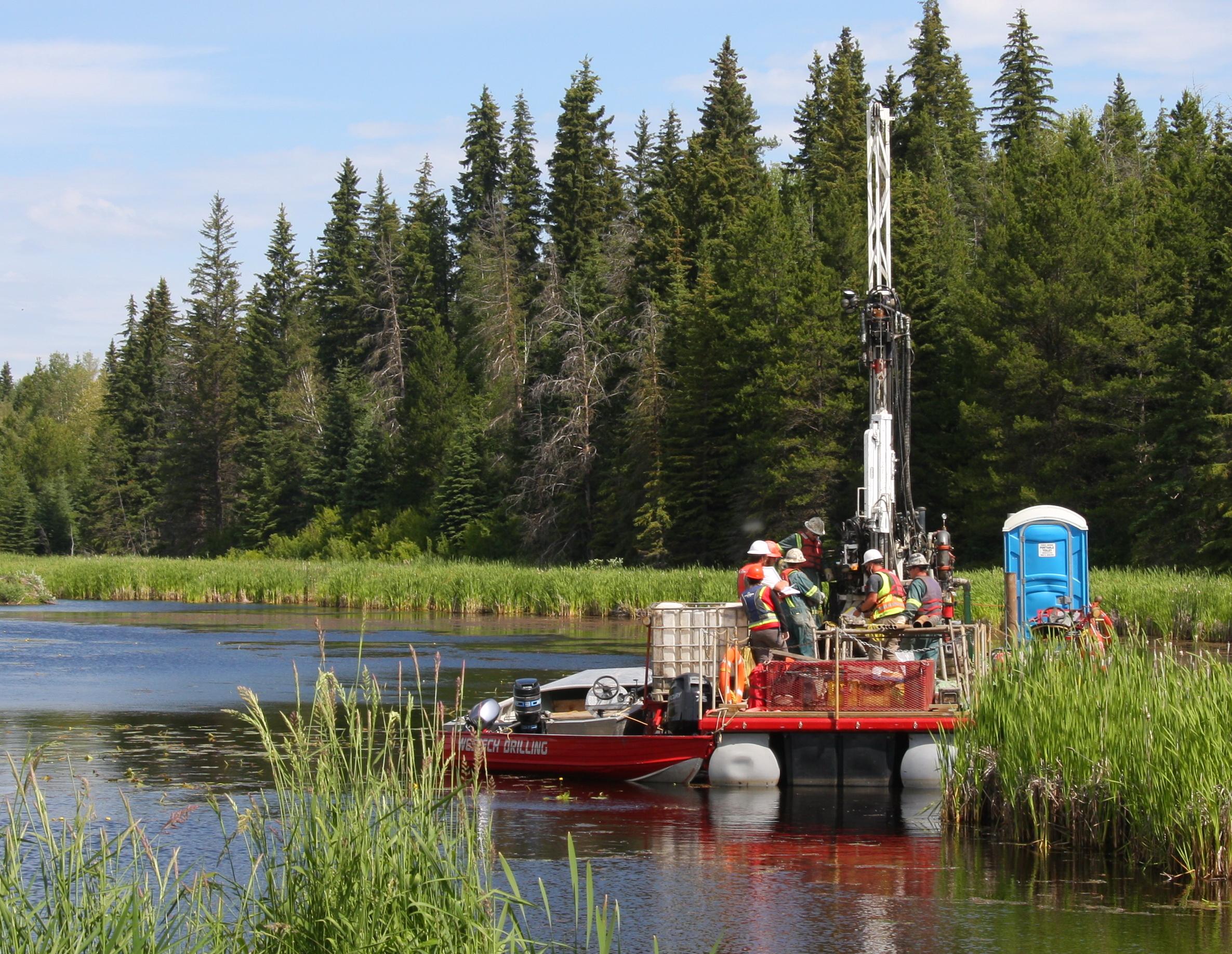 8 - Barge drilling Summer 2015