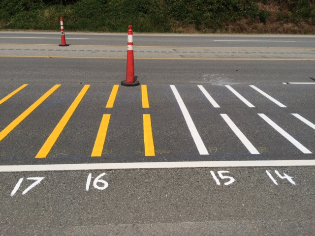 line painting on bc highways