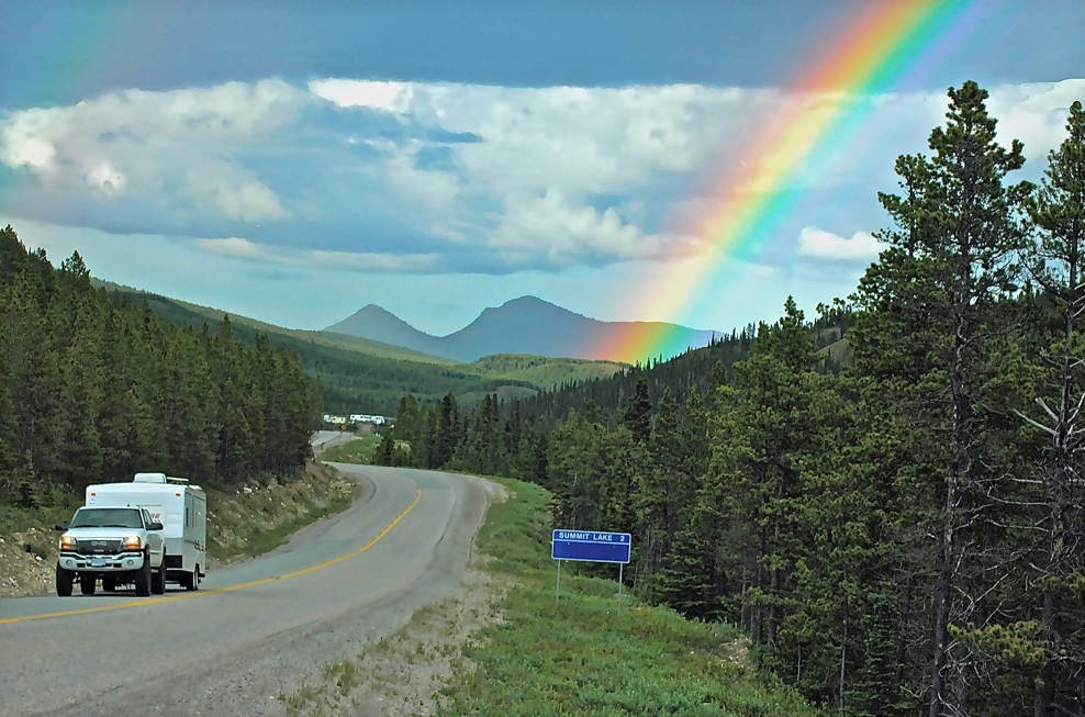 Rainbow on the way to Alaska