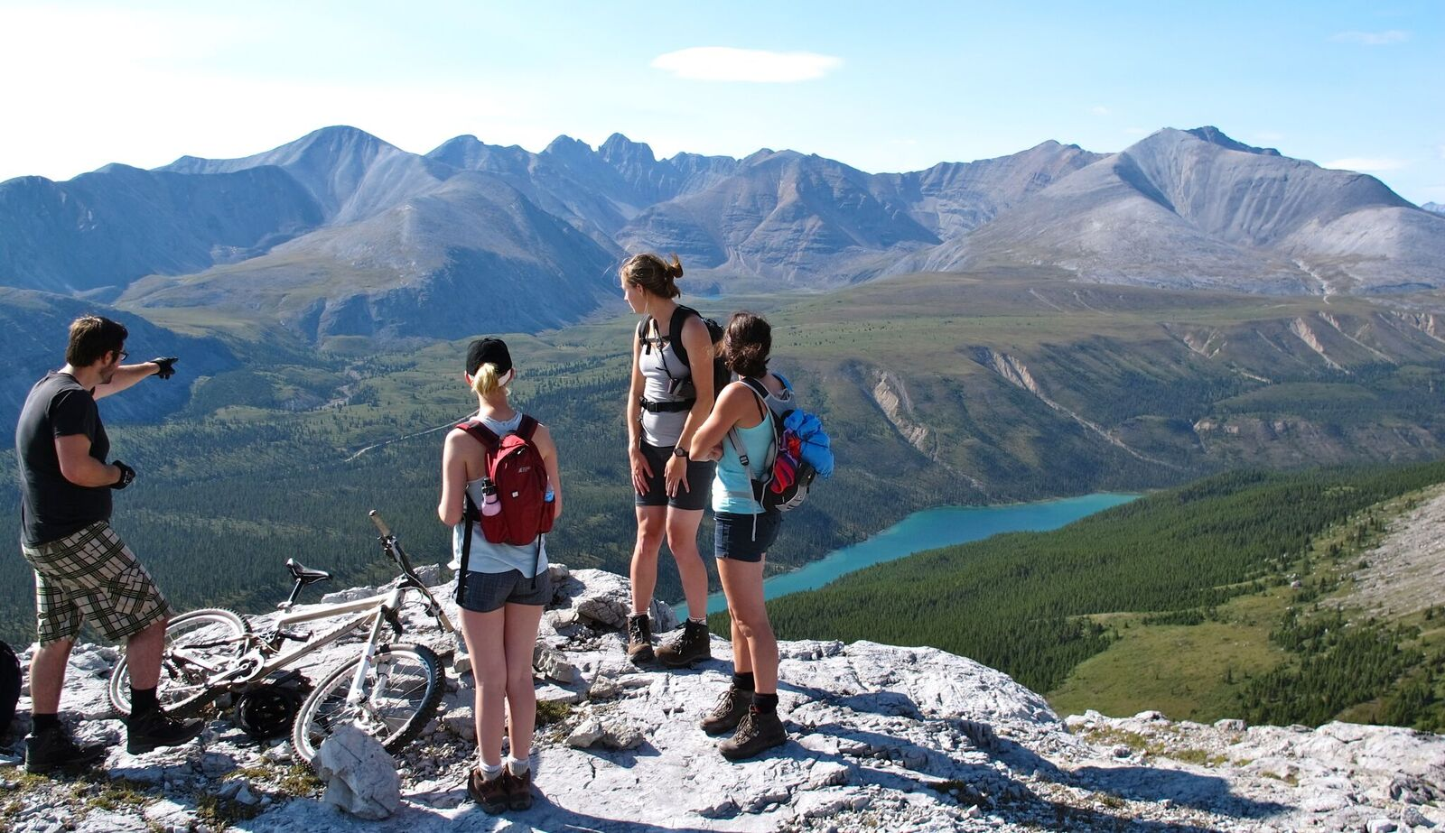 hikers enjoying the view