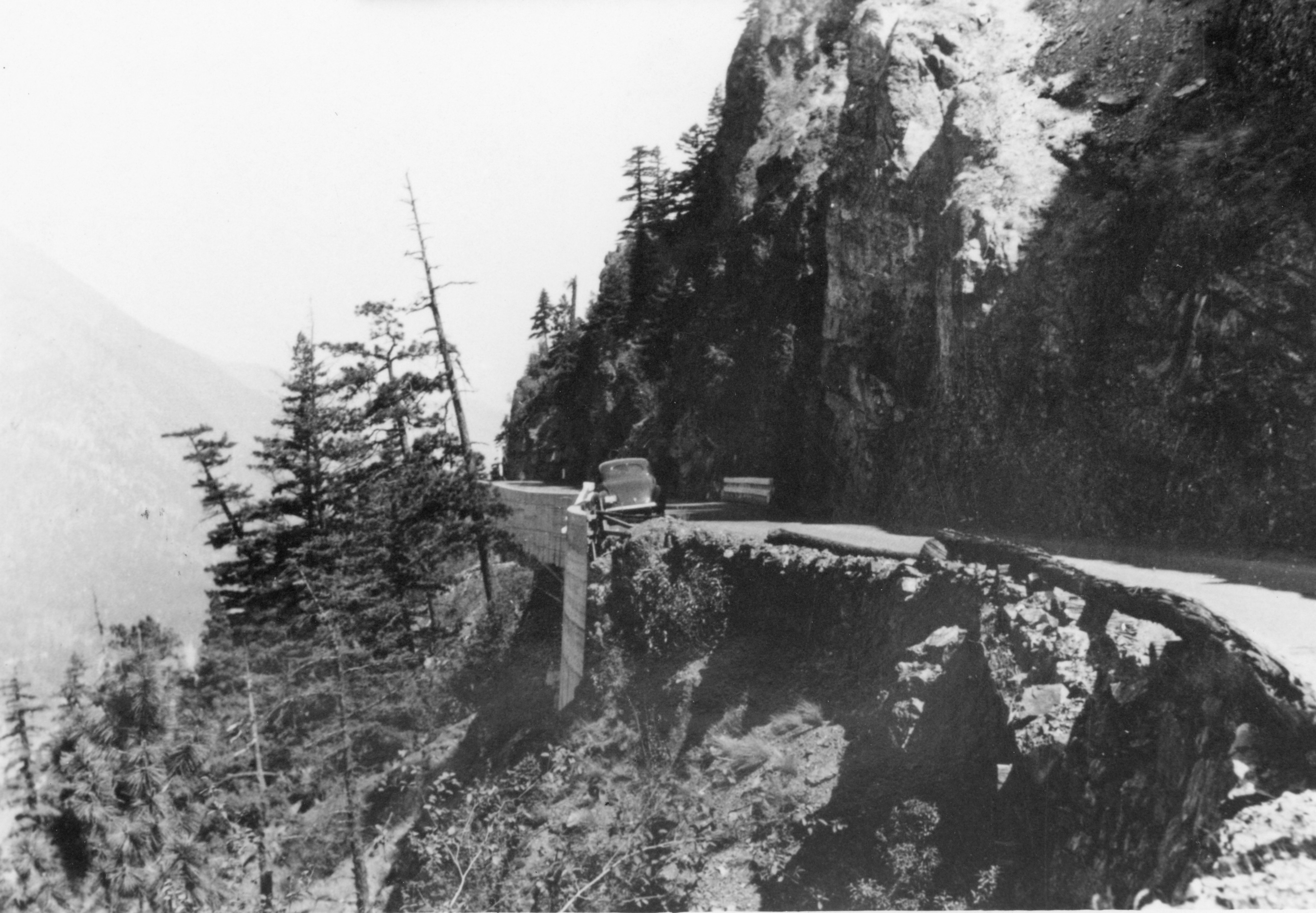 safety barrier on old Fraser Canyon highway