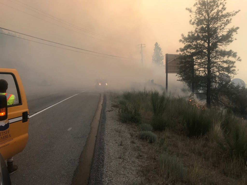 bc wildfire, wildfire, peachland, highway 97
