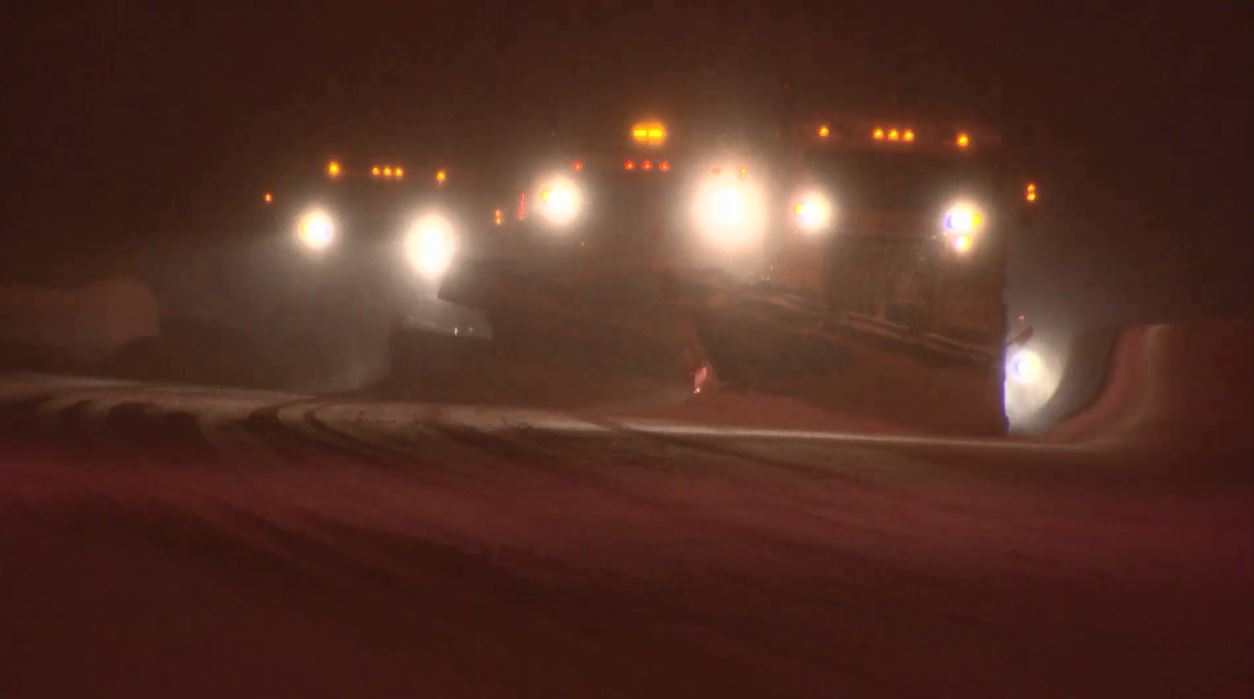 Triple threat of snow plows on the Coquihalla